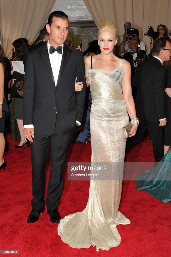 Musician Gavin Rossdale and actress Gwen Stefani attend the Costume Institute Gala Benefit to celebrate the opening of the 'American Woman: Fashioning a National Identity' exhibition at The Metropolitan Museum of Art on May 3, 2010 in New York City.
