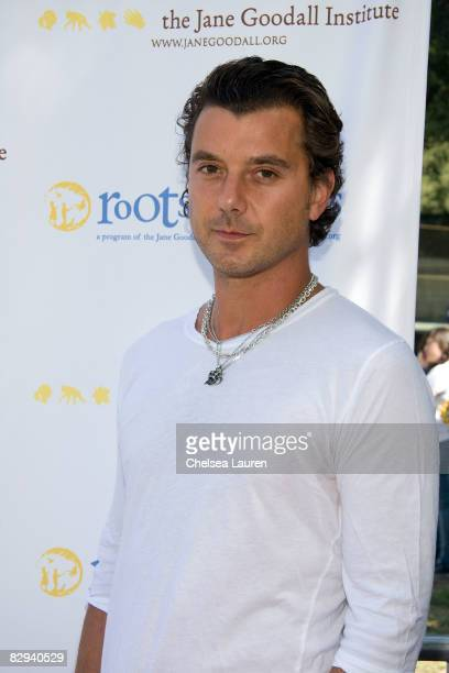 Musician Gavin Rossdale attends Roots Shoots Day of Peace at Griffith Park on September 21 2008 in Los Angeles California