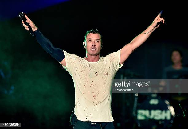 Musician Gavin Rossdale of Bush performs onstage during day one of the 25th annual KROQ Almost Acoustic Christmas at The Forum on December 13 2014 in...