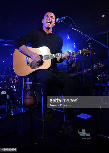 Musician Gavin Rossdale of the band Bush performs at Alt 987's annual 'Altimate Roof Top Christmas Party' at The Loft and Rooftop Wet Deck at W...