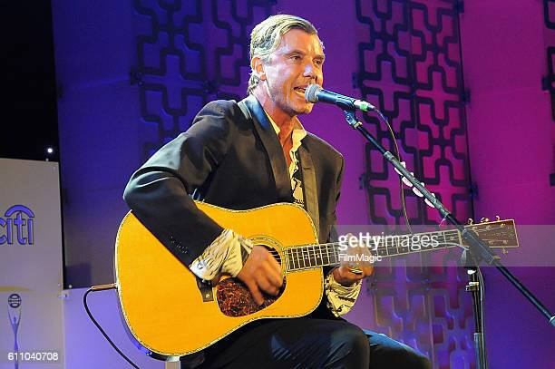 Musician Gavin Rossdale performs onstage at the 2016 Clio Awards at the American Museum of Natural History on September 28 2016 in New York City