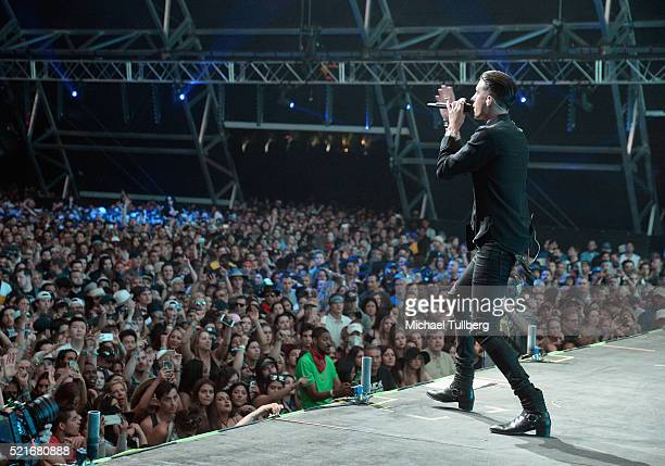 Musician GEazy performs onstage during day 1 of the 2016 Coachella Valley Music Arts Festival Weekend 1 at the Empire Polo Club on April 15 2016 in...