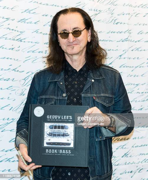 Musician Geddy Lee signs copies of Geddy Lee's Big Beautiful Book Of Bass at Barnes Noble on July 19 2019 in Philadelphia Pennsylvania