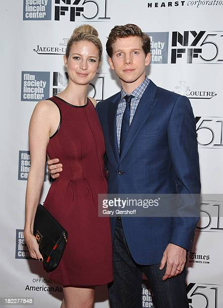 Musician Gemma Clarke and actor Stark Sands attend the Inside Lleywn Davis premiere during the 51st New York Film Festival at Alice Tully Hall at...