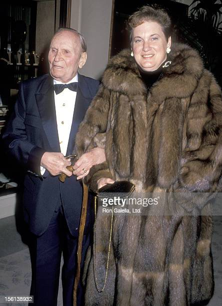 Musician Gene Autry and wife Jacqueline Ellam attend the Sixth Annual American Cinema Awards on January 6 1989 at Beverly Hilton Hotel in Beverly...