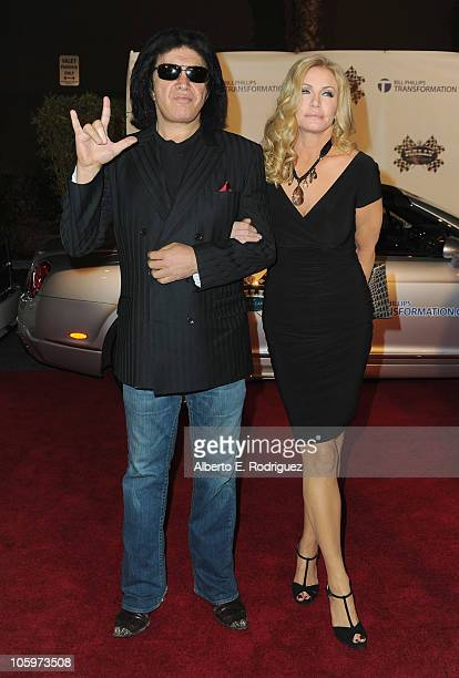 Musician Gene Simmons and actress Shannon Tweed arrive to the 2nd Annual Rally for Kids With Cancer The Qualifiers Celebrity Draft Party on October...