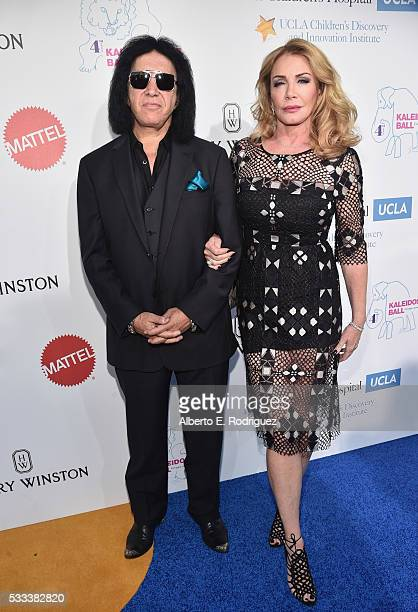 Musician Gene Simmons and actress Shannon Tweed attend the Kaleidoscope Ball at 3LABS on May 21 2016 in Culver City California