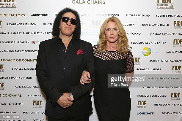 Musician Gene Simmons and model/actress Shannon Tweed attends Friends Of The Israel Defense Forces Western Region Gala at The Beverly Hilton Hotel on...