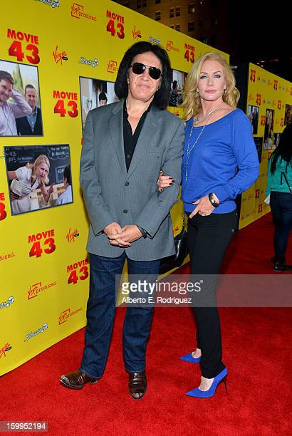 Musician Gene Simmons and wife Shannon Tweed attend Relativity Media's Movie 43 Los Angeles Premiere held at the TCL Chinese Theatre on January 23...