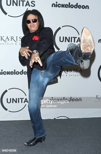 Musician Gene Simmons attends the 2017 Unitas Gala at Capitale on September 12 2017 in New York City