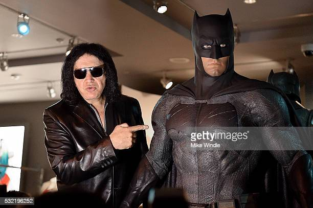 Musician Gene Simmons attends the Warner Bros Studio Tour Hollywood launch of DC Universe The Exhibit featuring the greatest Super Heroes and...