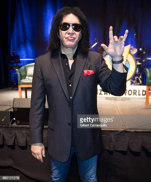 Musician Gene Simmons attends Wizard World Comic Con Philadelphia 2017 Day 3 at Pennsylvania Convention Center on June 3 2017 in Philadelphia...