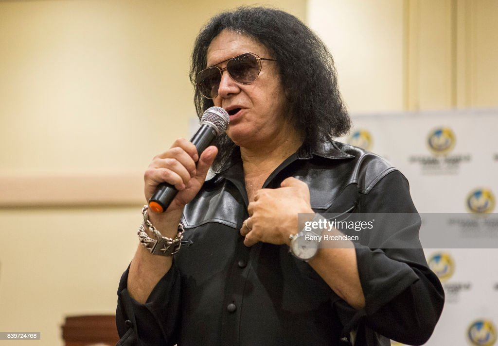 Musician Gene Simmons during the Wizard World Chicago Comic-Con at Donald E. Stephens Convention Center on August 26, 2017 in Rosemont, Illinois.