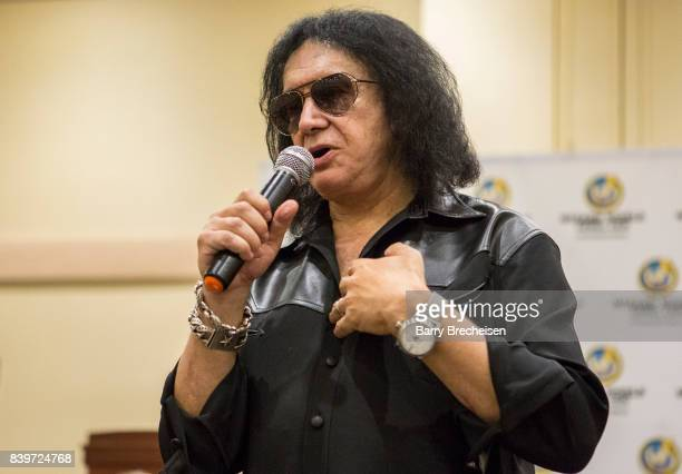 Musician Gene Simmons during the Wizard World Chicago ComicCon at Donald E Stephens Convention Center on August 26 2017 in Rosemont Illinois