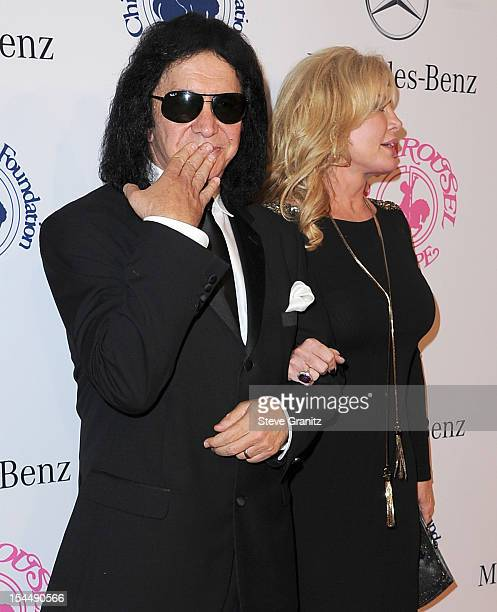 Musician Gene Simmons of KISS and actress Shannon Tweed arrive at the 26th Anniversary Carousel Of Hope Ball presented by MercedesBenz at The Beverly...