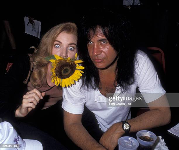 Musician Gene Simmons of Kiss and actress Shannon Tweed attending the premiere party for 'Bill Ted's Bogus Journey' on July 11 1991 at the Hollywood...
