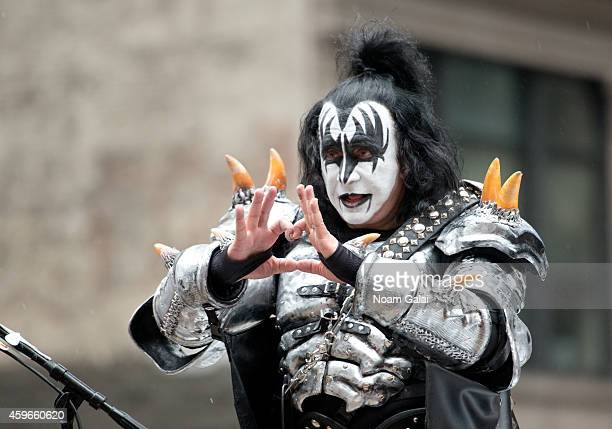 Musician Gene Simmons of KISS attends the 88th Annual Macys Thanksgiving Day Parade at on November 27 2014 in New York New York