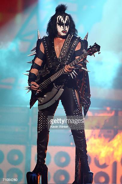 Musician Gene Simmons of Kiss performs during the VH1 Rock Honors at the Mandalay Bay Events Center on May 25 2006 in Las Vegas Nevada