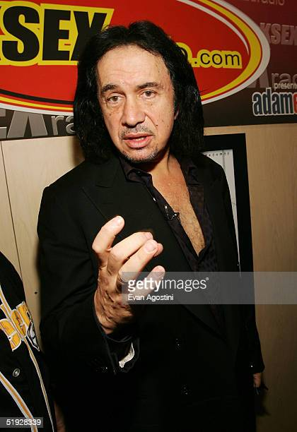 Musician Gene Simmons of the band KISS participates in the 2005 AVN Adult Entertainment Expo at the Sands Convention Center in the Venetian Hotel on...