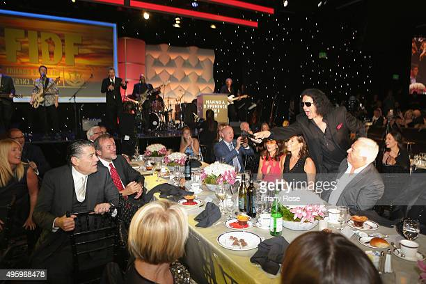 Musician Gene Simmons performs during Friends Of The Israel Defense Forces Western Region Gala at The Beverly Hilton Hotel on November 5 2015 in...