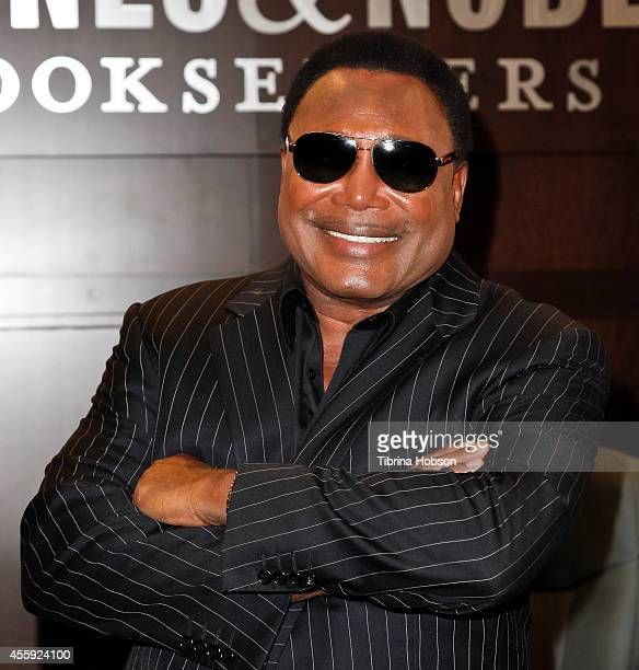 Musician George Benson signs copies of his book 'Benson' at Barnes & Noble bookstore at The Grove on September 21, 2014 in Los Angeles, California.