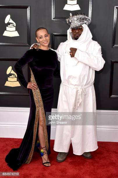 Musician George Clinton and Carlon ThompsonClinton attend The 59th GRAMMY Awards at STAPLES Center on February 12 2017 in Los Angeles California