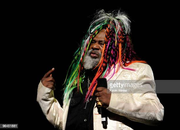 Musician George Clinton appears onstage at Help Haiti with George Lopez Friends at LA Live's Nokia Theater on February 4 2010 in Los Angeles...