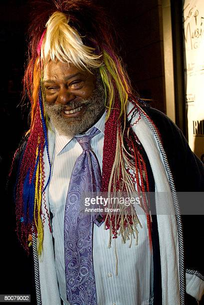 Musician George Clinton arrives at the Dallas Austin 3rd Annual Don't Stop The Music Gala at the Cobb Energy Performing Arts Centre March 1 2008 in...