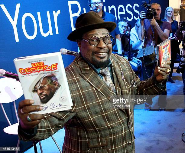 Musician George Clinton attends the 2015 National Association of Music Merchants show media preview day at the Anaheim Convention Center on January...