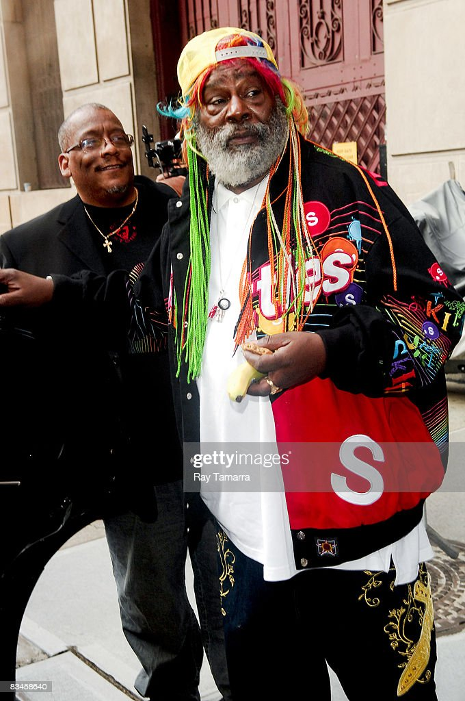 Musician George Clinton visits the 'Late Show with David Letterman' at the Ed Sullivan Theater on October 27, 2008 in New York City.