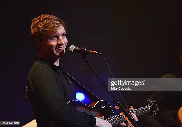 Musician George Ezra performs at Beacon Theatre on March 6 2015 in New York City