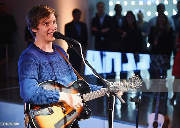 Musician George Ezra performs during the iHeartMedia Soundfront at iHeartMedia Headquarters on April 22 2015 in New York City