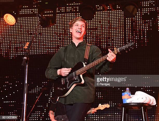 Musician George Ezra performs onstage during 1067 KROQ Almost Acoustic Christmas 2015 at The Forum on December 13 2015 in Los Angeles California