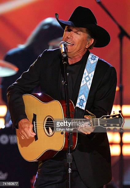 Musician George Strait performs onstage during the 42nd Annual Academy Of Country Music Awards held at the MGM Grand Garden Arena on May 15 2007 in...