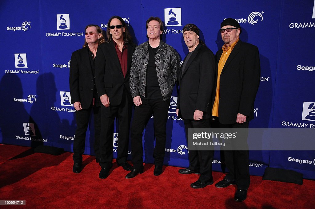 Musician George Thorogood (C) and The Destroyers attend the 15th Annual GRAMMY Foundation Music Preservation Project's 'Play It Forward: A Celebration Of Music's Evolution And Influencers' at Saban Theatre on February 7, 2013 in Beverly Hills, California.