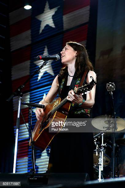 Musician Gillian Welch performs at Farm Aid 2002 Pittsburgh Pennsylvania September 21 2002
