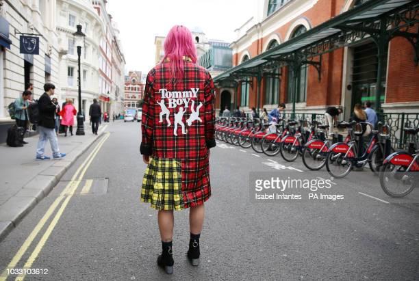 Musician GIRLI wears NYC based streetwear NICOPANDA following its show during the London Fashion Week September 2018 PRESS ASSOCIATION Picture date...