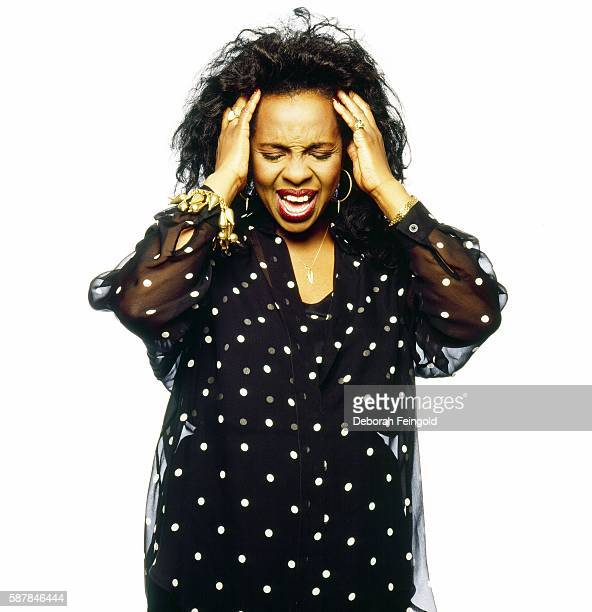 Musician Gladys Knight posing for US magazine in March 1989 in New York City New York