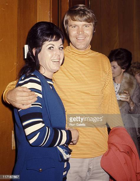 Musician Glen Campbell and Billie Jean Nunley attend 29th Annual Bing Crosby National ProAm Golf Tournament and Clambake on January 22 1970 at Pebble...