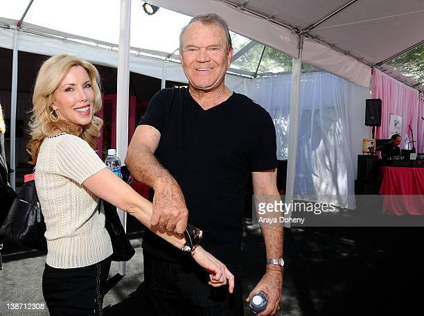 Musician Glen Campbell and Kim Woolen attend GRAMMY Gift Lounge during The 54th Annual GRAMMY Awards at Staples Center on February 10 2012 in Los...