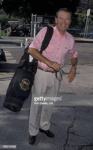 Musician Glen Campbell attends 16th Annual Country Music Bill Boyd Golf Classic on October 12 1998 at De Bell Golf Course in Burbank California