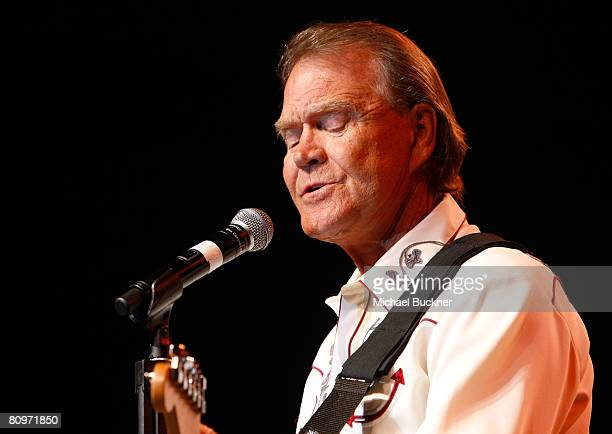 Musician Glen Campbell performs during day 1 of Stagecoach California's Country Music Festival held at the Empire Polo Field on May 2 2008 in Indio...