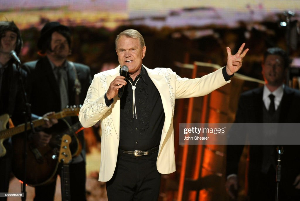 Musician Glen Campbell performs onstage at The 54th Annual GRAMMY Awards at Staples Center on February 12, 2012 in Los Angeles, California.
