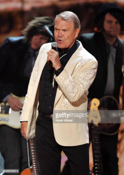 Musician Glen Campbell performs onstage at the 54th Annual GRAMMY Awards held at Staples Center on February 12, 2012 in Los Angeles, California.
