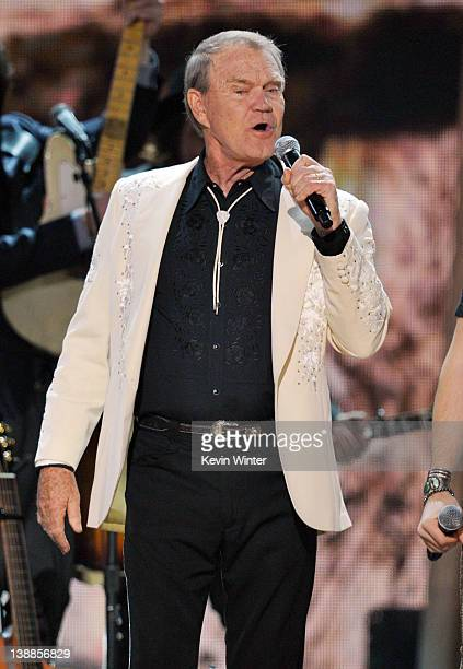 Musician Glen Campbell performs onstage at the 54th Annual GRAMMY Awards held at Staples Center on February 12 2012 in Los Angeles California