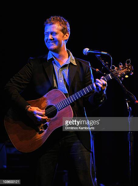 Musician Glen Hansard of Swell Season performs onstage during Global Green USA's 5th Annual Pre Oscar Party raising awareness about smart climate...