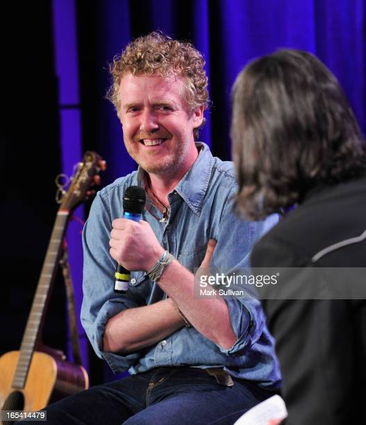 Musician Glen Hansard on stage during An Evening With Glen Hansard at The GRAMMY Museum on April 3 2013 in Los Angeles California