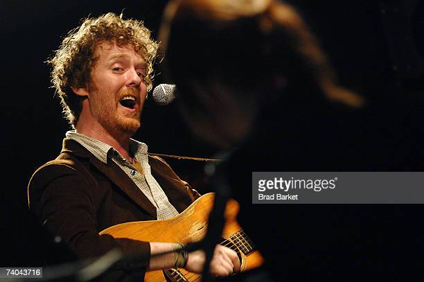 Musician Glen Hansard onstage at the ASCAP Tribeca Music Lounge held at the Canal Room during the 2007 Tribeca Film Festival on May 1 2007 in New...