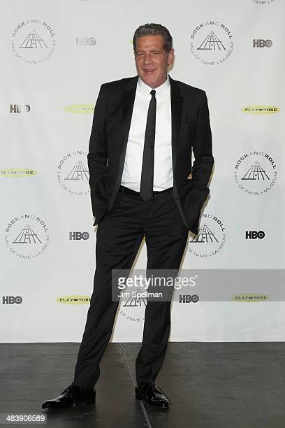 Musician Glenn Frey attends the 29th Annual Rock And Roll Hall Of Fame Induction Ceremony at Barclays Center of Brooklyn on April 10 2014 in New York...