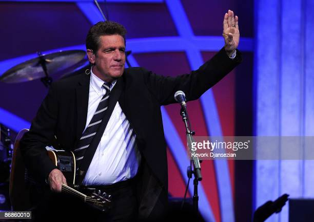 Musician Glenn Frey of The Eagles performs onstage during the 16th Annual Race to Erase MS event themed Rock To Erase MS cochaired by Nancy Davis and...